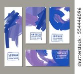 vector banner set blue  purple  ... | Shutterstock .eps vector #554446096