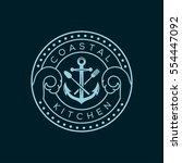 anchor  fork and knife vector... | Shutterstock .eps vector #554447092
