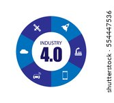 industry 4.0 and internet of... | Shutterstock .eps vector #554447536