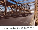 old steel bridge in boston  | Shutterstock . vector #554461618
