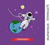 illustration of flying... | Shutterstock . vector #554461675