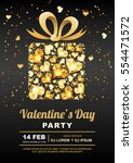 valentines day party vector... | Shutterstock .eps vector #554471572