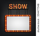 vector illustration of showtime ... | Shutterstock .eps vector #554477548