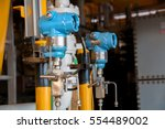 pressure transmitter in oil and ... | Shutterstock . vector #554489002