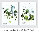 flyer layout template. vector... | Shutterstock .eps vector #554489362