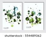 flyer layout template. vector... | Shutterstock .eps vector #554489362