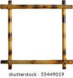 bamboo frame | Shutterstock . vector #55449019