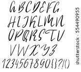 hand drawn font made by dry... | Shutterstock .eps vector #554490955