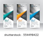 roll up banner stand template... | Shutterstock .eps vector #554498422