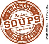 homemade soups vintage sign | Shutterstock .eps vector #554498452