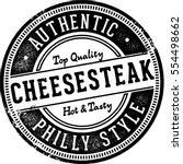 authentic philly cheesesteak... | Shutterstock .eps vector #554498662