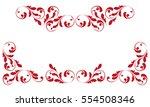 the decorative border. creative ... | Shutterstock .eps vector #554508346