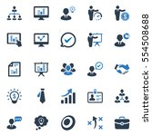 business ultimate icons   blue... | Shutterstock .eps vector #554508688
