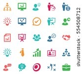 business ultimate icons  ... | Shutterstock .eps vector #554508712