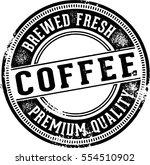 fresh coffee vintage sign | Shutterstock .eps vector #554510902