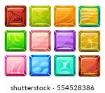 set of cartoon square buttons... | Shutterstock .eps vector #554528386