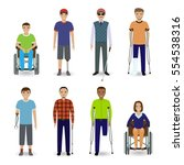 invalid people concept. group... | Shutterstock .eps vector #554538316