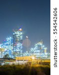 oil refinery plant   night... | Shutterstock . vector #554542606