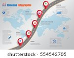 design template  road map... | Shutterstock .eps vector #554542705