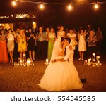 the brides dancing on the... | Shutterstock . vector #554545585