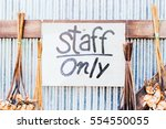 staff only sign | Shutterstock . vector #554550055