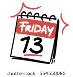 friday the 13th. calendar date | Shutterstock .eps vector #554550082