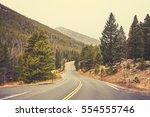 Retro Color Toned Empty Road I...