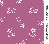 seamless pattern with stars.... | Shutterstock .eps vector #554558002