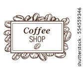 coffee shop concept. vector... | Shutterstock .eps vector #554559346