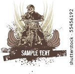 vector grunge background with a ...   Shutterstock .eps vector #55456192