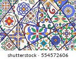 vector decorative background.... | Shutterstock .eps vector #554572606