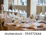 table arrangement for event... | Shutterstock . vector #554572666