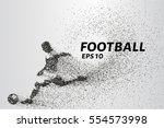 football of the particles.... | Shutterstock .eps vector #554573998