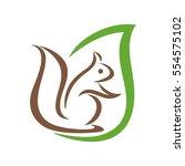 squirrel leaf | Shutterstock .eps vector #554575102