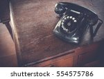 black antique vintage analog... | Shutterstock . vector #554575786
