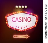 vector illustration of casino... | Shutterstock .eps vector #554577112