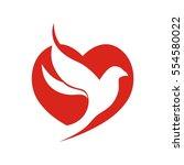 heart bird | Shutterstock .eps vector #554580022