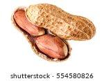 A Big Ripe Peanut Isolated Ove...