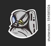 astronaut illustration | Shutterstock .eps vector #554585326