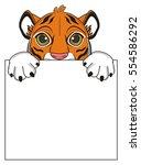 Snout Of Orange Tiger Peek Up...