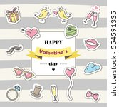 happy valentine's day card.... | Shutterstock .eps vector #554591335