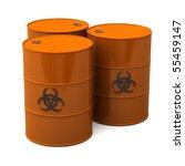 biohazard barrels | Shutterstock . vector #55459147