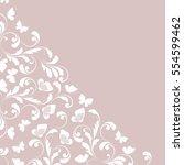 the decorative border. vintage... | Shutterstock .eps vector #554599462
