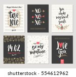vector set of valentine's day... | Shutterstock .eps vector #554612962