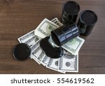 oil barrels and poured money... | Shutterstock . vector #554619562