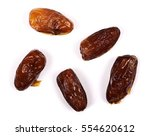 dry dates isolated on white... | Shutterstock . vector #554620612