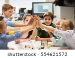 education  children  technology ... | Shutterstock . vector #554621572