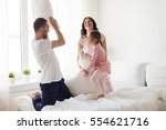 people  family and morning... | Shutterstock . vector #554621716