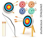 Set Of Target With 3 Arrows....