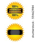 guaranteed label and buttons | Shutterstock .eps vector #55462984